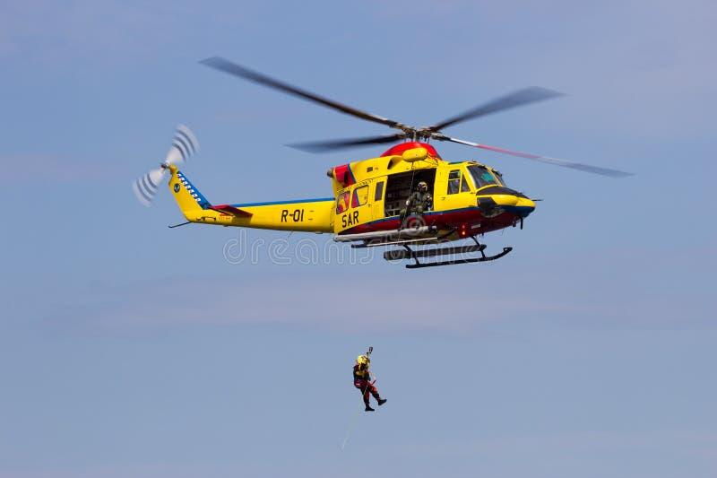 Helikopterredding stock afbeelding