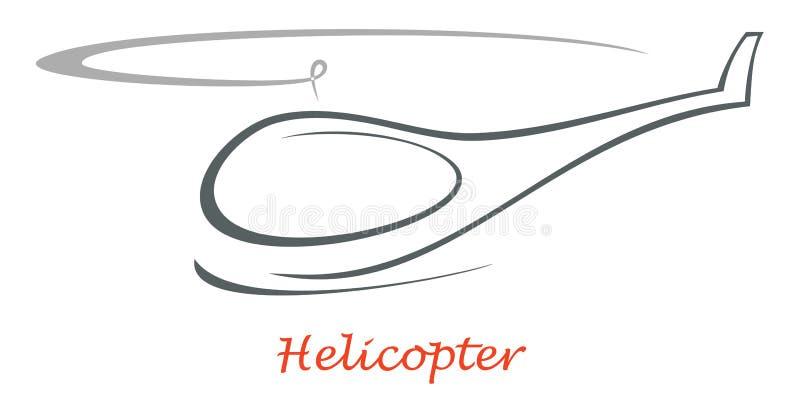 helikoptersymbol royaltyfri illustrationer