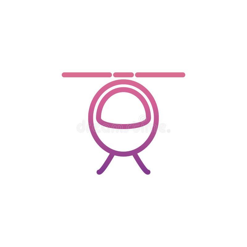 helikoptersymbol i Nolan stil stock illustrationer