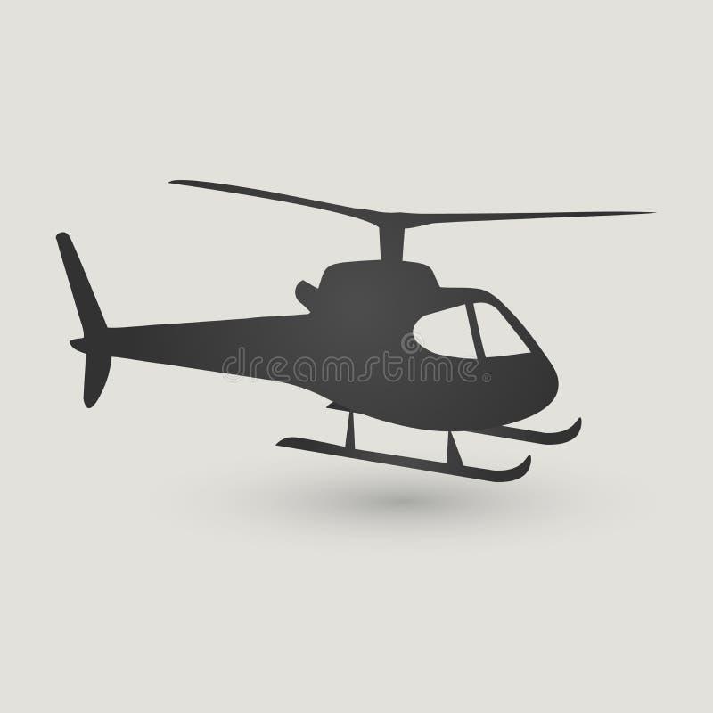 Helikoptersymbol som isoleras på ljus bakgrund Modern plan pictogram, affär, marknadsföring, internetbegrepp stock illustrationer
