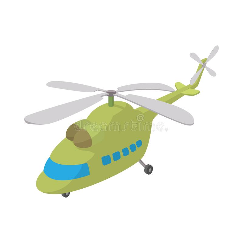 Helikoptersymbol, tecknad filmstil royaltyfri illustrationer