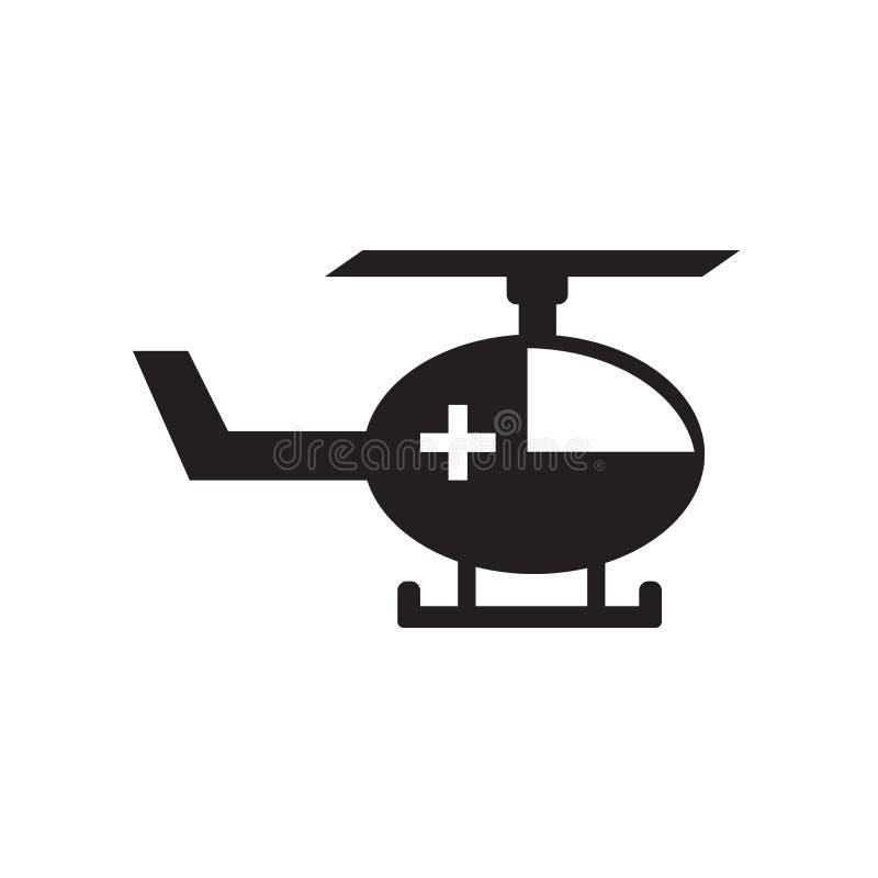 Helikoptersymbolsvektor som isoleras på vit bakgrund, helikoptertecken, medicinska vård- symboler royaltyfri illustrationer