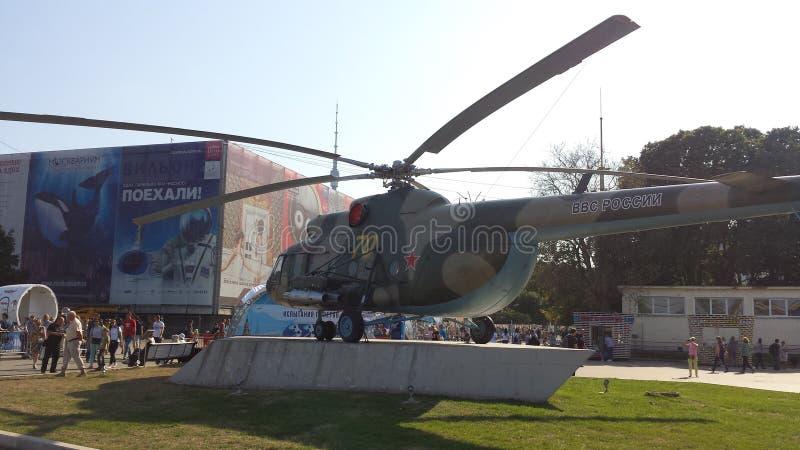 Helikoptertentoonstelling stock fotografie