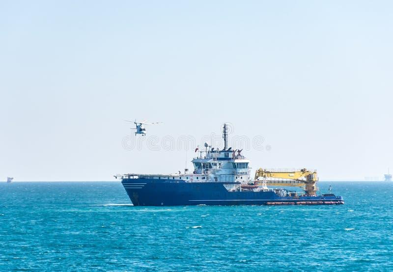 Helikopteru odlot obrazy stock