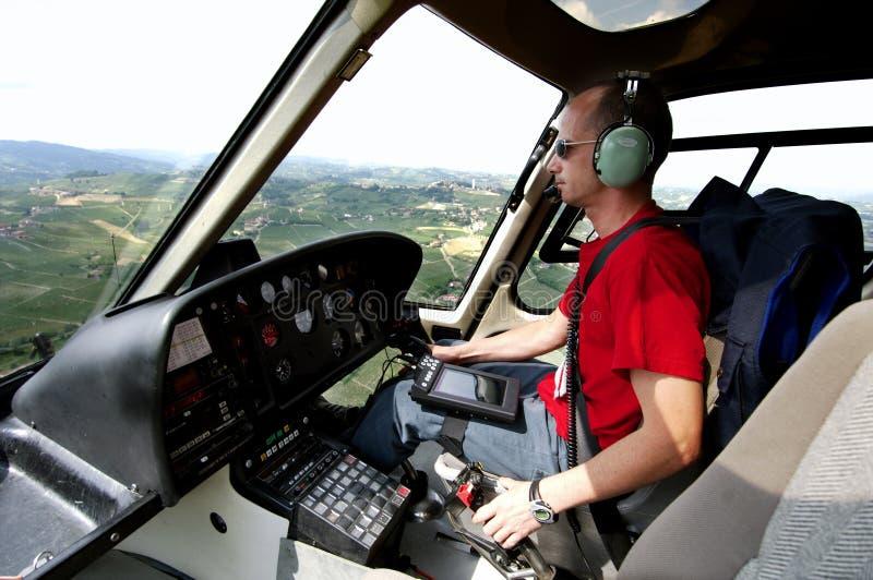 helikopteru pilot obraz royalty free