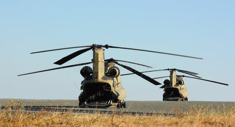 Helikoptery zdjęcia stock
