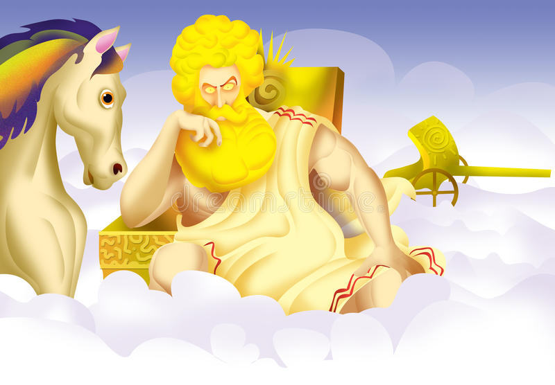 Helios, god royalty free illustration