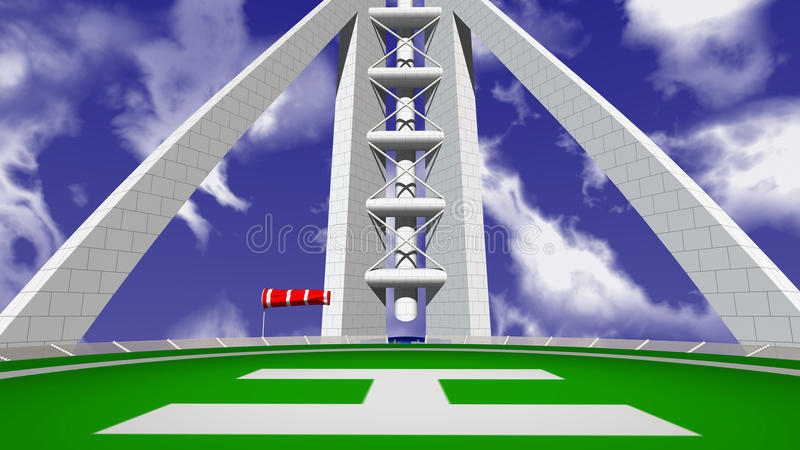 Download On a helipad stock illustration. Image of sign, helicopter - 13092412