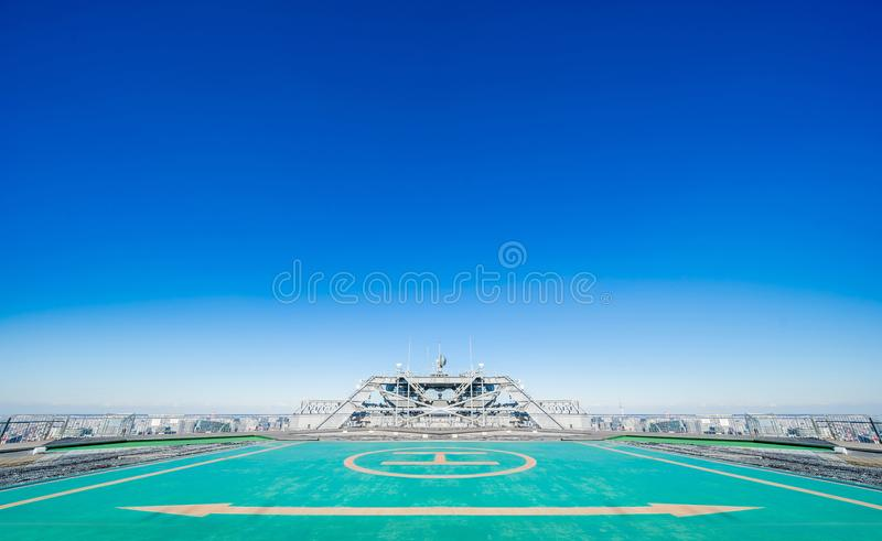 roof of the building and blue sky royalty free stock photo