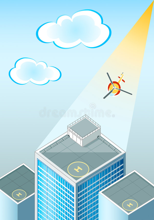 Helipads stock illustration