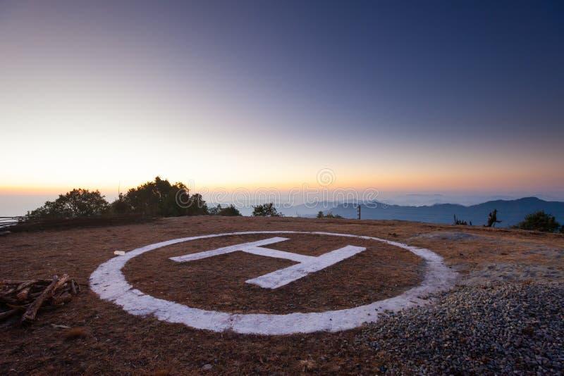 Heliporto de Nepal foto de stock