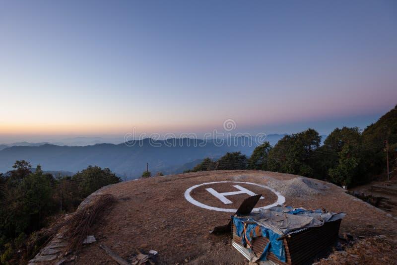 Helipuerto de Nepal imagen de archivo libre de regalías