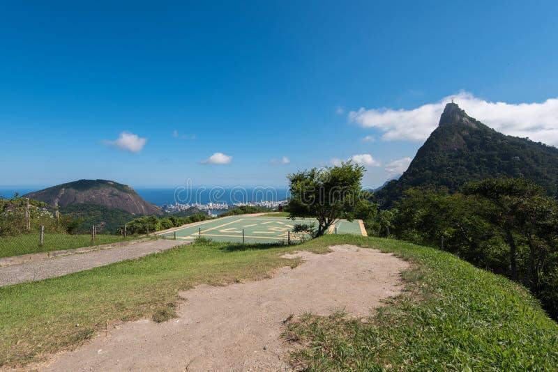 Helipuerto en Rio de Janeiro fotos de archivo