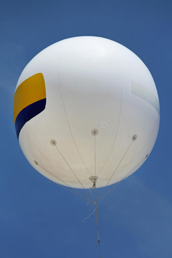 Helium Balloon. White Helium Balloon With Empty Space for Advertising stock images