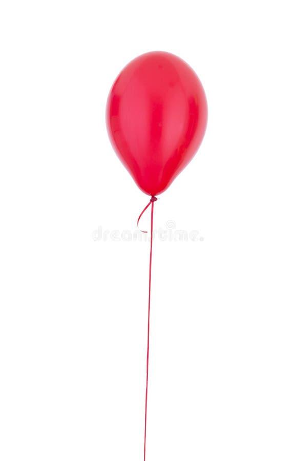 Helium. Red Helium balloon on white royalty free stock photos