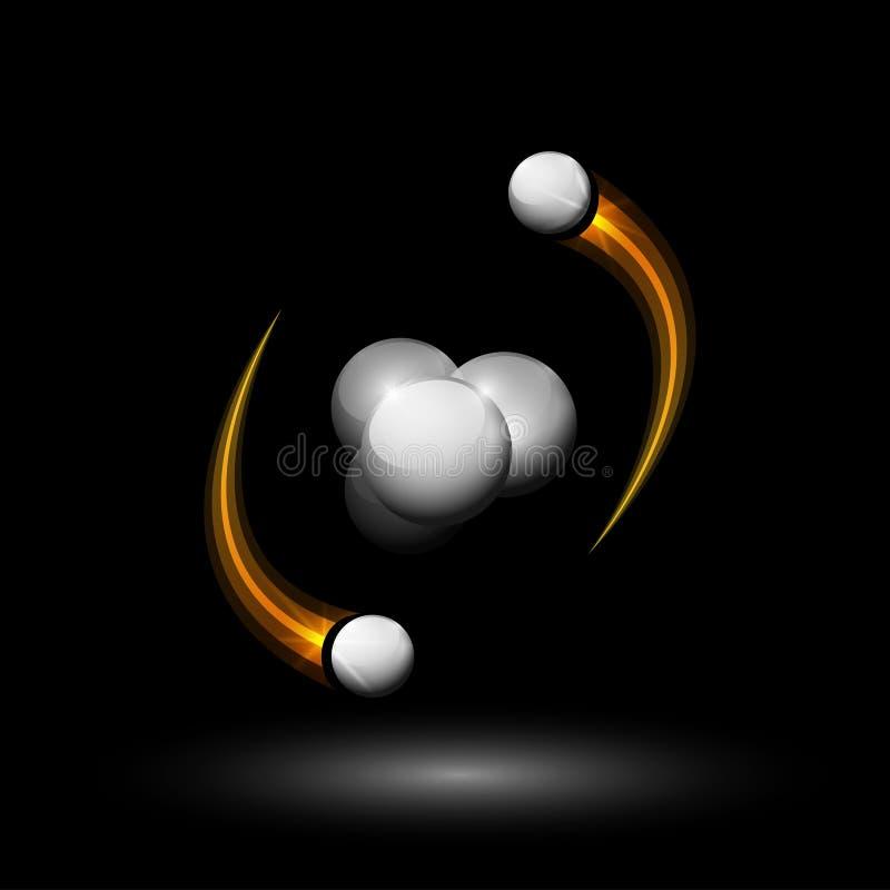 Heliumatom lizenzfreie abbildung