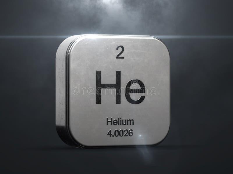 Heliumbeståndsdel från den periodiska tabellen stock illustrationer