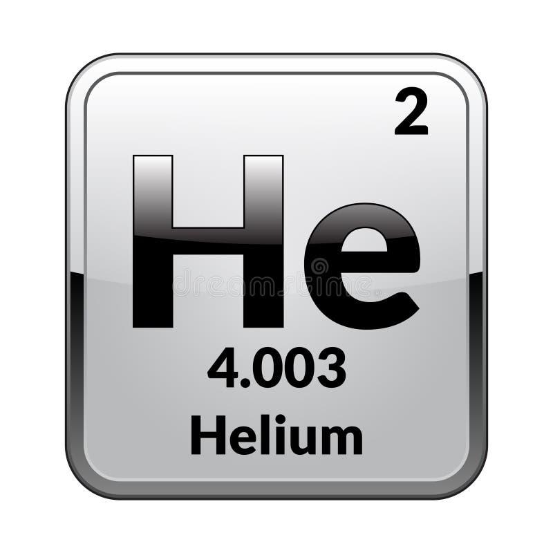 Heliumet för beståndsdel för periodisk tabell vektor vektor illustrationer