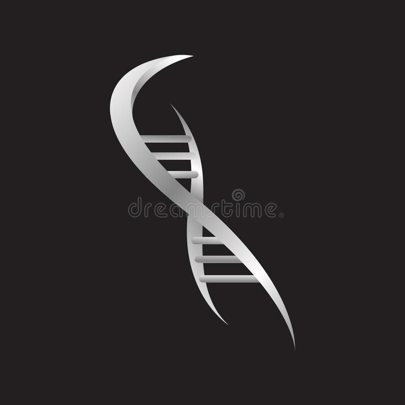 Helix DNA strand logo design vector icon isolated on white background stock illustration