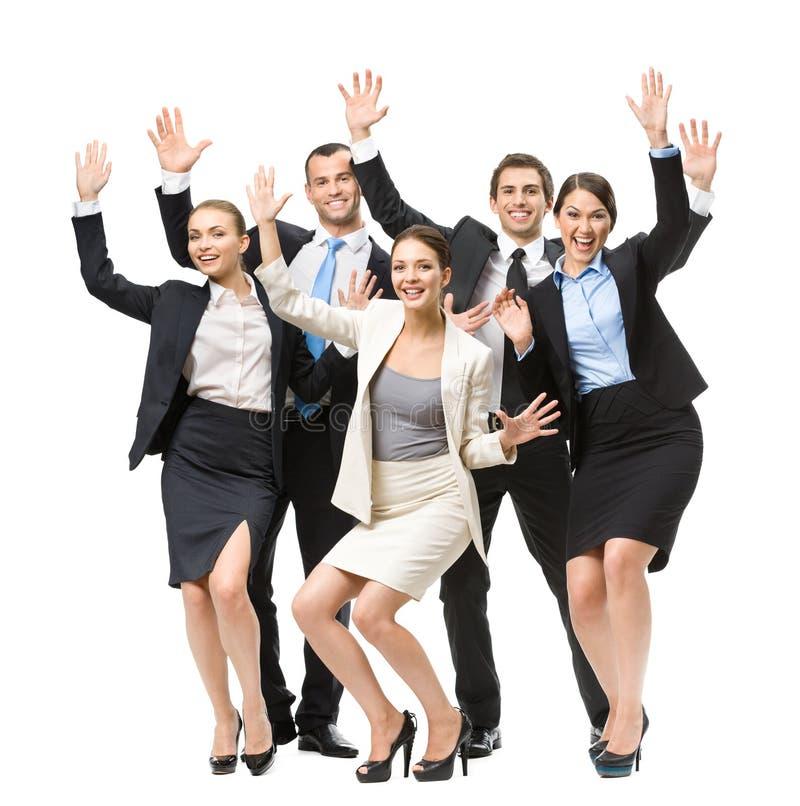 Hellång stående av gruppen av lyckliga ledare royaltyfri fotografi