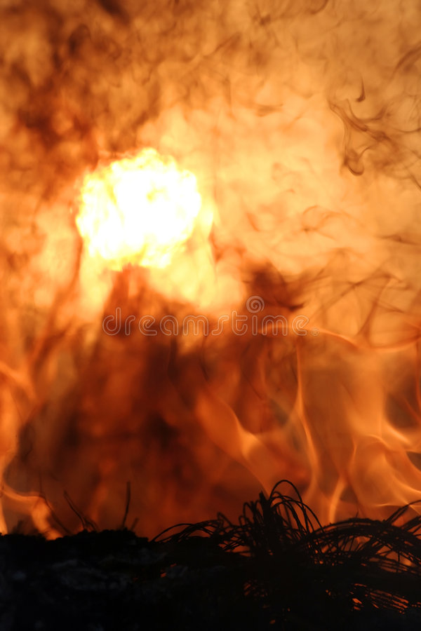 Hell. 's Fire - Flames, fire and sunset royalty free stock images
