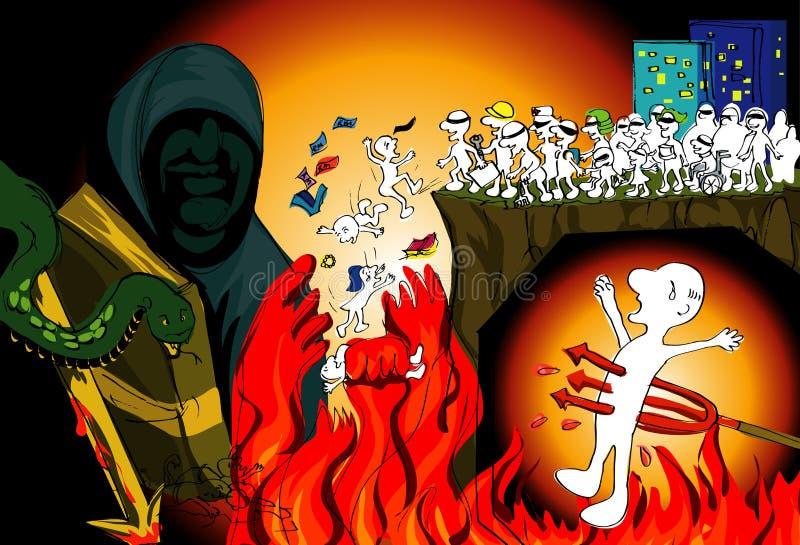 Hell.ai illustration stock