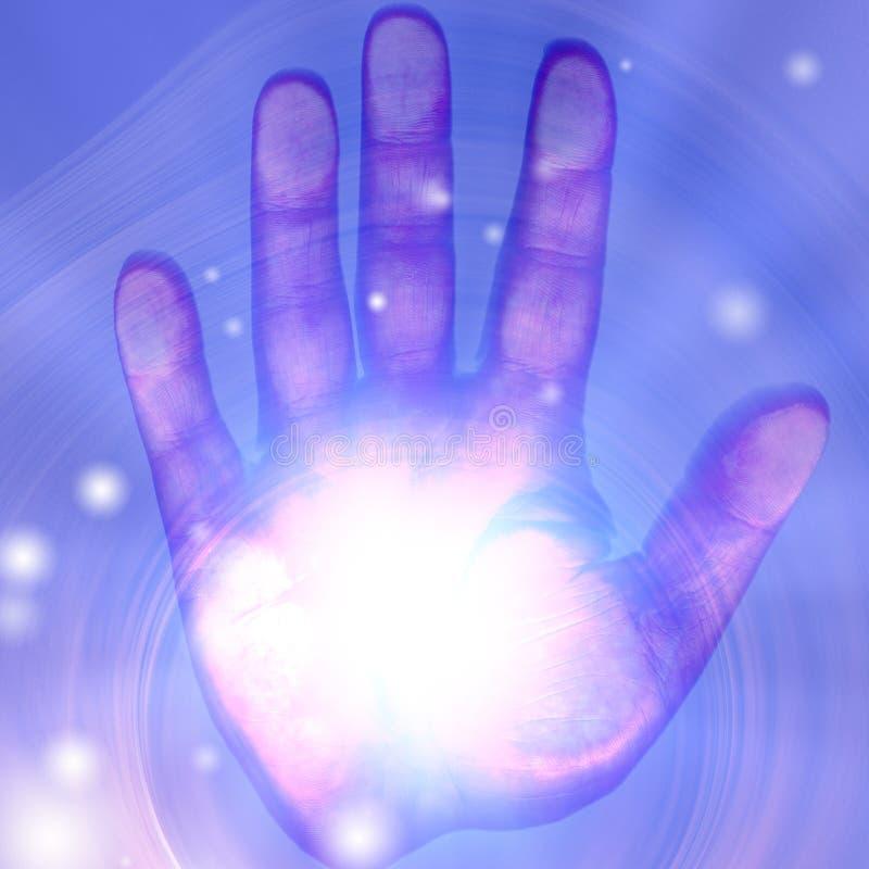 Hell beleuchtete Hand vektor abbildung