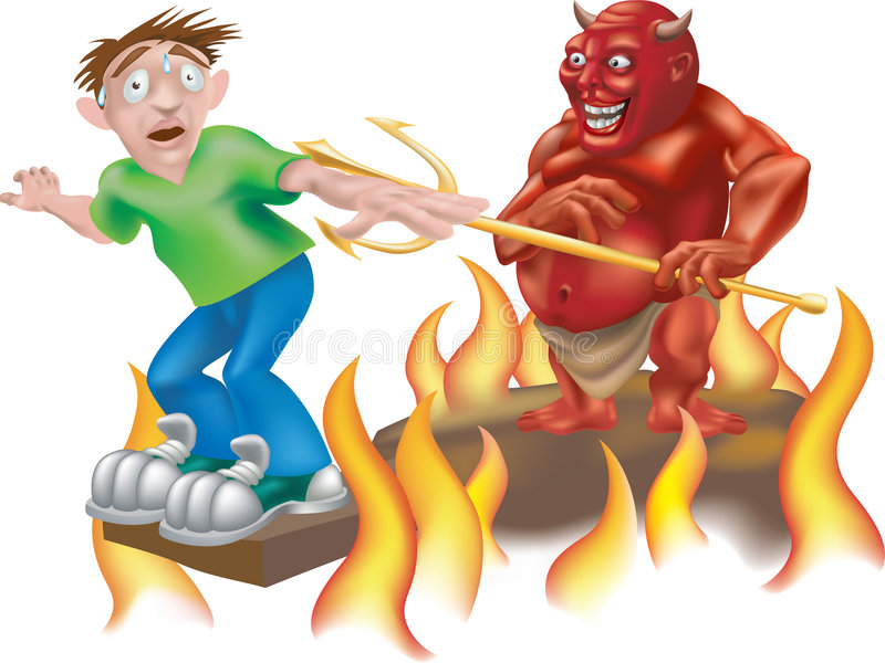 Hell of a day royalty free illustration