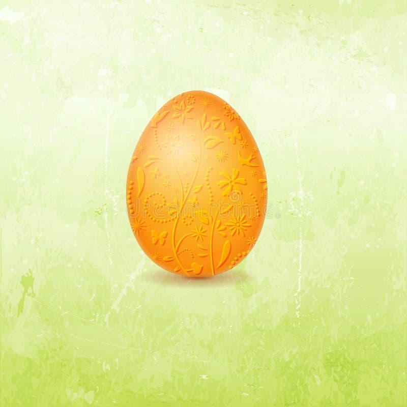 Ostern-Karte mit Ei lizenzfreie abbildung