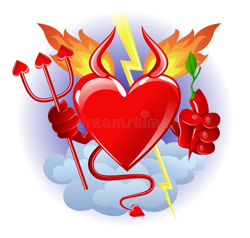 Download Hell heart stock vector. Image of decoration, hell, wings - 3879160
