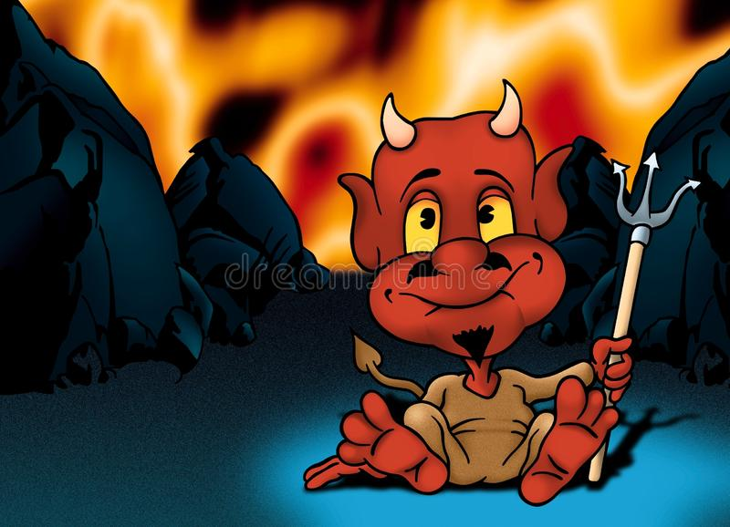 Download Hell And Red Little Devil Royalty Free Stock Photos - Image: 19970538