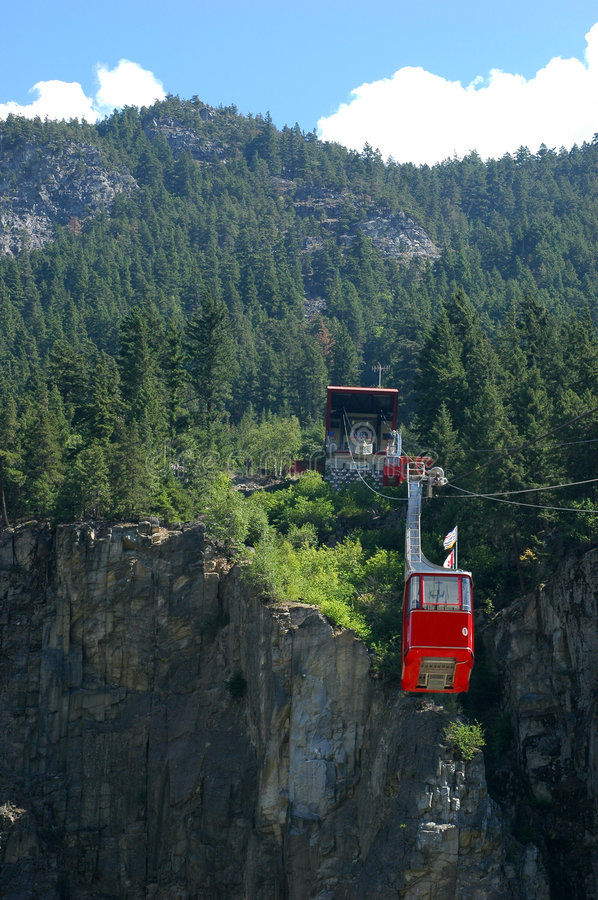 Download Hells Gate Airial Tram stock photo. Image of descending - 452268