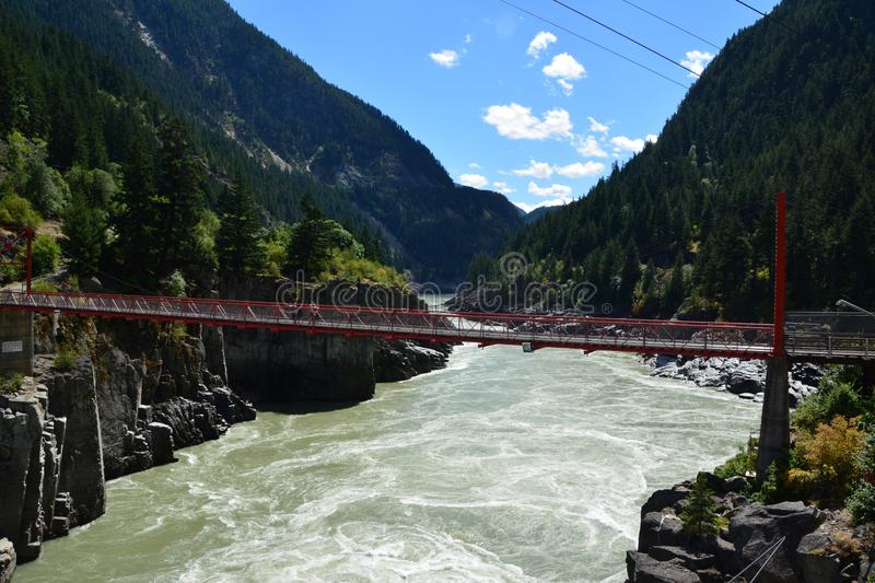 Hell`s gate fraser canyon. Hell`s gate airtram in fraser canyon british Columbia Canada royalty free stock image