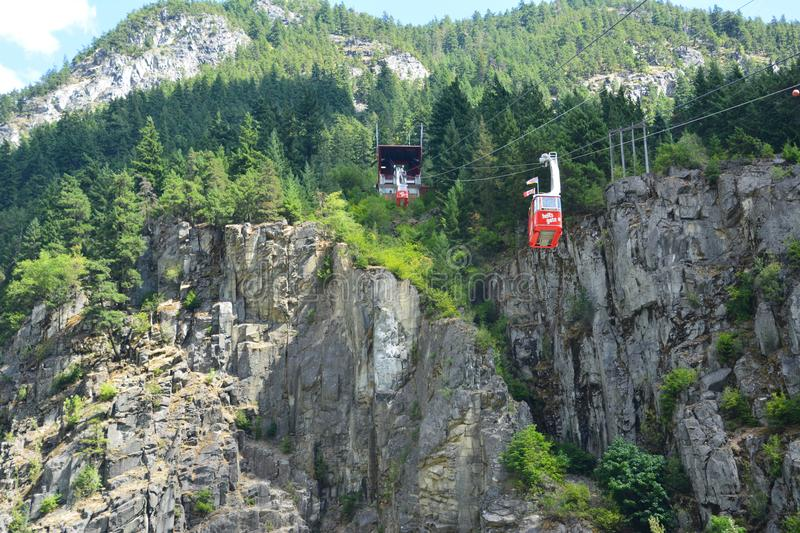 Hell`s gate fraser canyon. Hell`s gate airtram in fraser canyon british Columbia Canada royalty free stock images