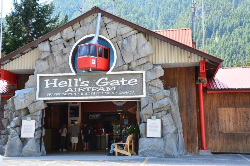 Hell`s gate fraser canyon royalty free stock image
