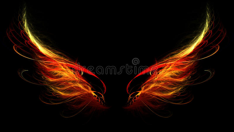 Hell Wings Stock Photos