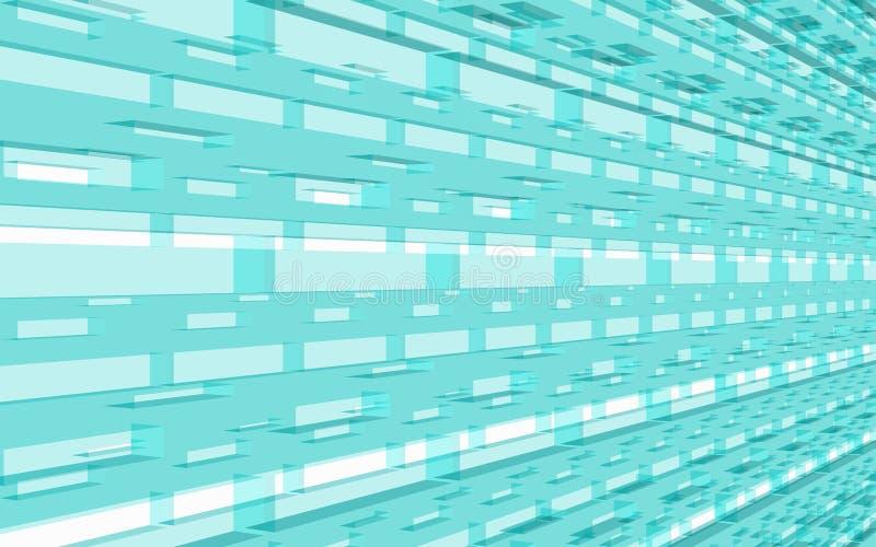 Hellbläuliche Strukturperspektive über blaue Hintergrundbeleuchtung vektor abbildung