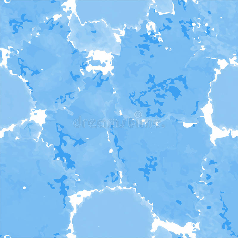 Hellblaue Beschaffenheit Murble Hintergrund des Vektors Gezeichnete marmornde Illustration des Aquarells Hand lizenzfreie abbildung