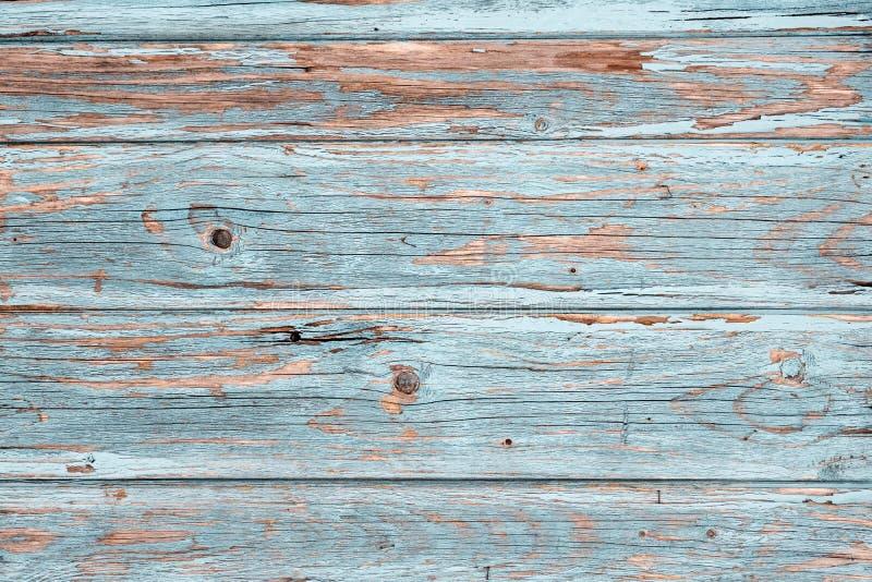 Hellblaue gemalte Weinlese-hölzerne Hintergrund-Beschaffenheits-Nahaufnahme lizenzfreies stockbild