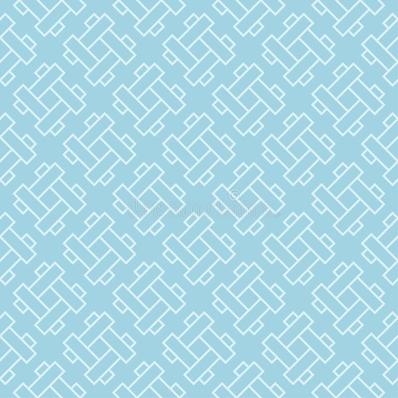 Hellblaue geometrische Verzierung Nahtloses Muster stock abbildung