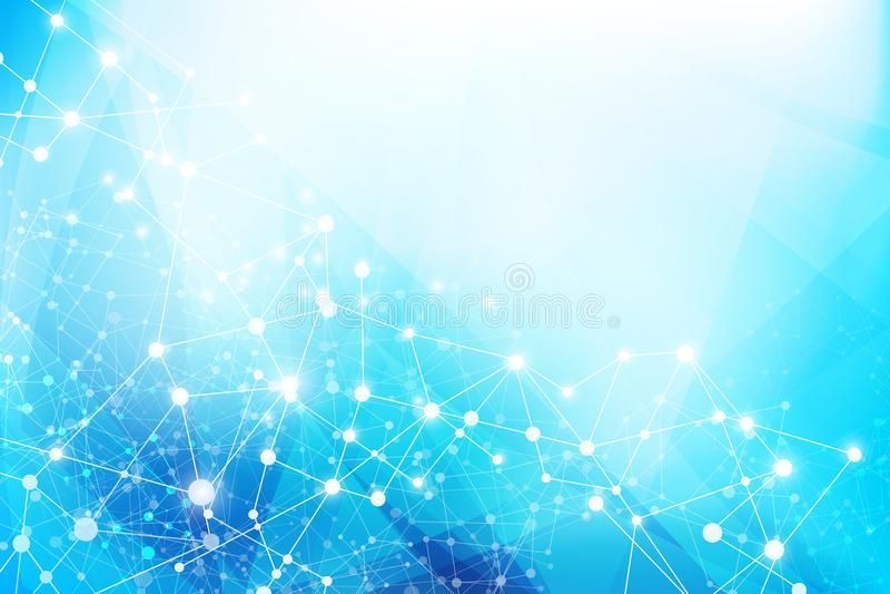 Hellblauer abstrakter Hintergrund 005 vektor abbildung