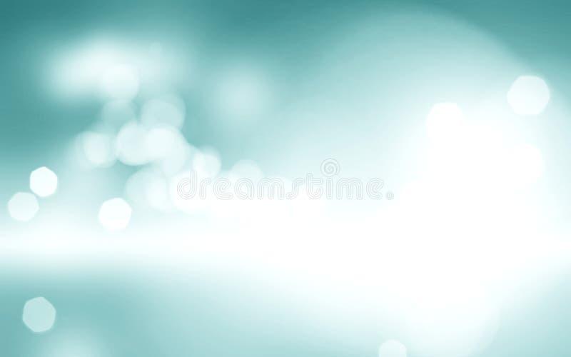 Hellblauer bokeh Hintergrund unscharfes Himmeldesign, bewölktes weißes pai stockfoto