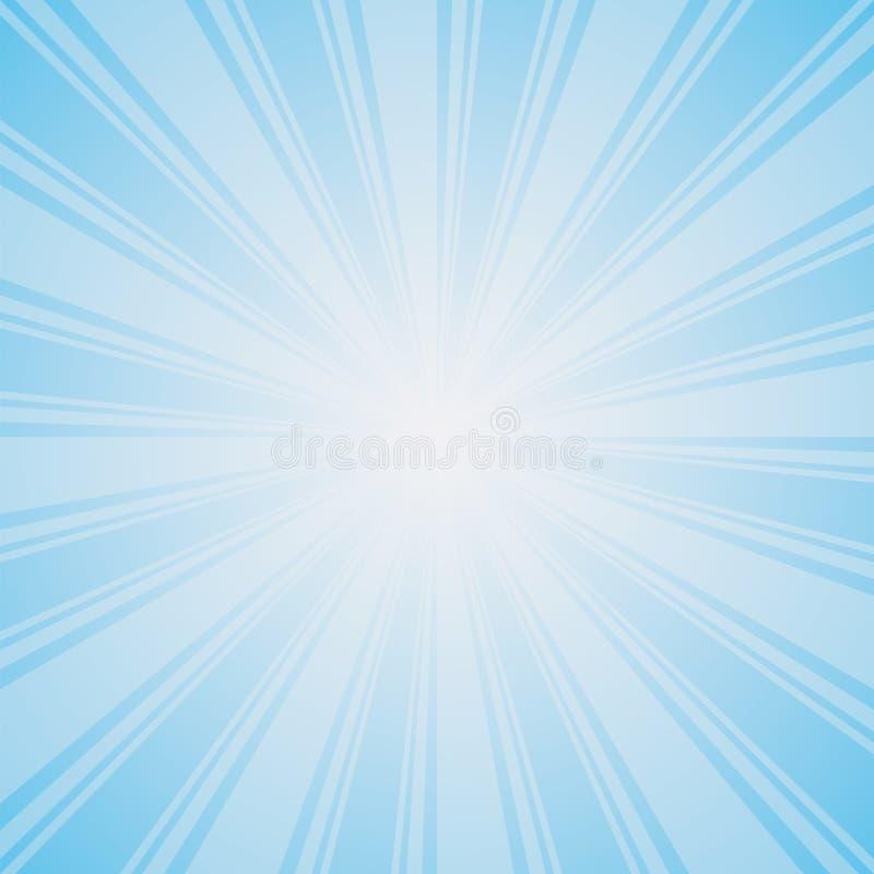 Hellblauer Farbexplosionshintergrund stock abbildung