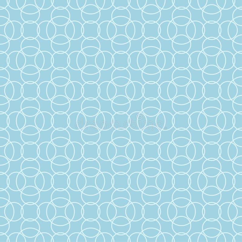Hellblauer geometrischer Druck Nahtloses Muster stock abbildung