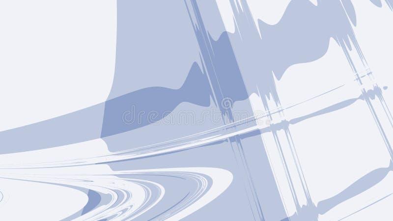 Hellblauer grauer abstrakter Fractalhintergrund Schallwellen und Kräuselungen auf einem einfachen Hintergrund moderne digitale Ku stock abbildung