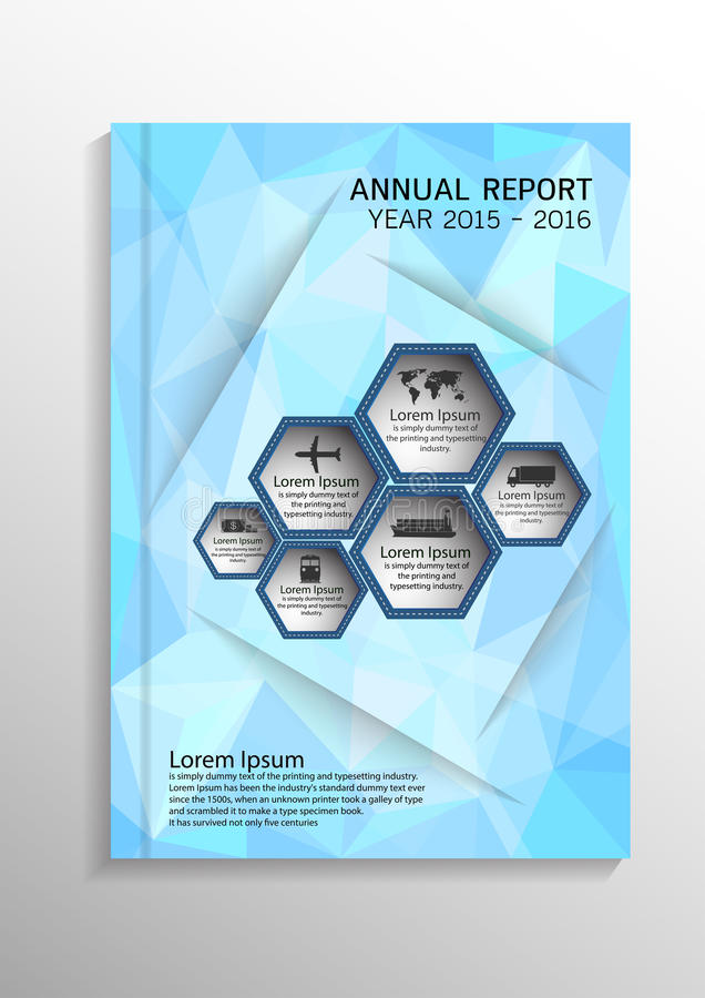 Hellblauer niedriger polygonaler Hintergrund Umfassen Sie Designschablonenplan in der Größe A4 für Jahresbericht, Broschüre, Flie vektor abbildung
