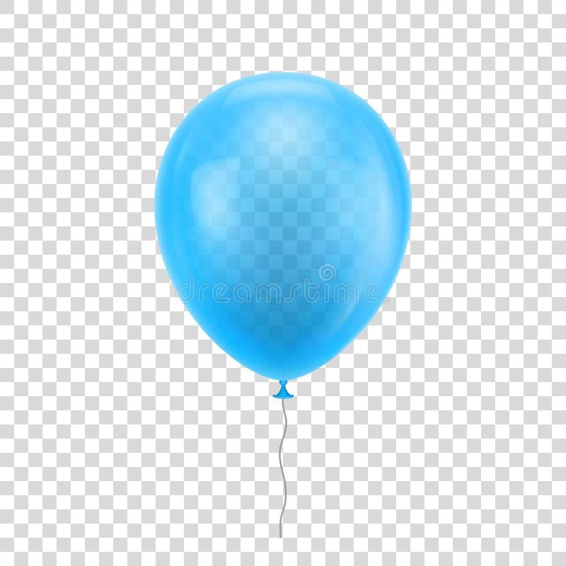 Hellblauer realistischer Ballon vektor abbildung