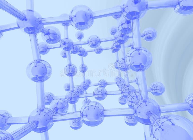 Hellblauer wissenschaftlicher Hintergrund lizenzfreie abbildung