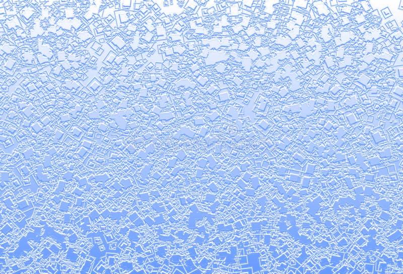 Hellblaues wässriges Quadrat der Mischung spritzt Hintergrundillustration lizenzfreies stockbild