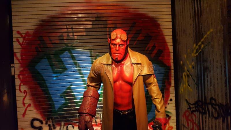 HellBoy Wax Statue (Ron Perlman) royalty free stock photos